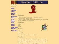 The Beautiful People of Africa Lesson Plan