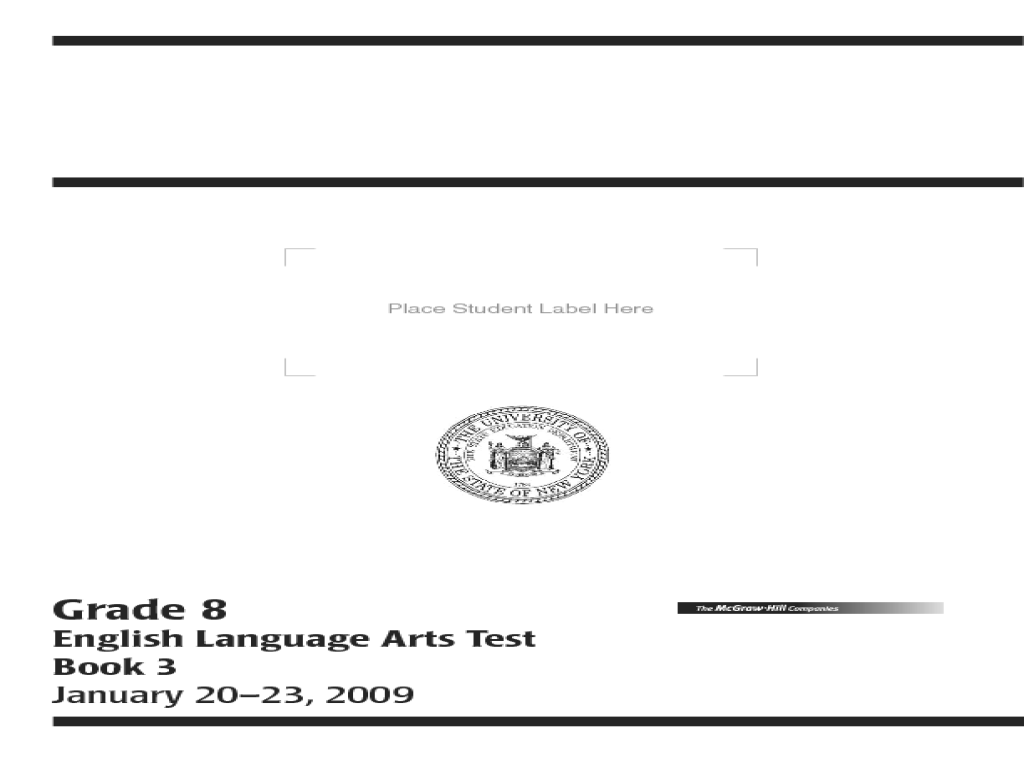 New York State Testing Program English Language Arts Test