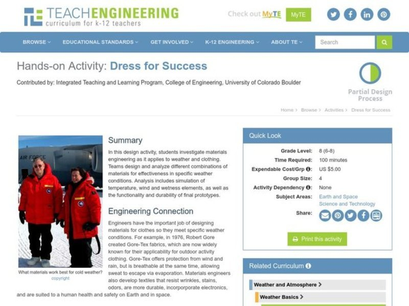 Dress for Success Activities & Project