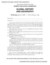 Regents high school examination global history and geography regents high school examination global history and geography june 13 2007 lesson plan publicscrutiny Images