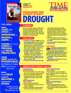 Drought Lesson Plan