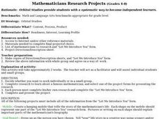 Mathematicians Research Projects Lesson Plan