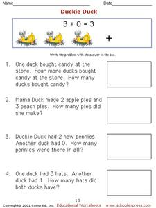 Duckie Duck Worksheet