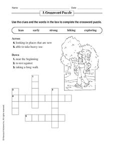 A Crossword Puzzle Worksheet