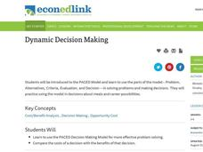 Dynamic Decision Making Lesson Plan