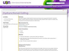 Dysfunctional Eating Lesson Plan