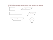 Quadrilateral Clues Lesson Plan