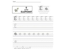 E is for Elephant Interactive