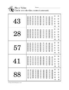 Early Place Value Worksheet