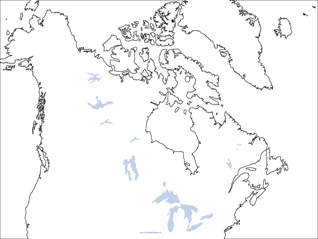 Major Lakes of North America Graphic Organizer for 9th