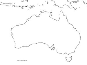 Australia Outline Map Graphic Organizer for 4th - 9th Grade ...
