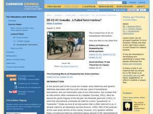 HI-02-01 Somalia: A Failed Intervention? Lesson Plan