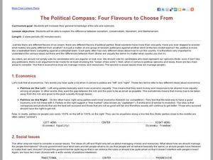 The Political Compass: Four Flavours to Choose From Lesson Plan