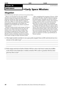 Early Space Missions Worksheet