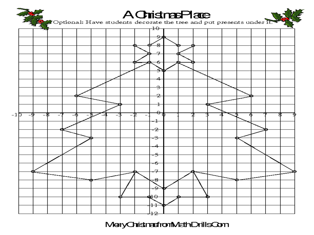 Worksheet Holiday Coordinate Graphing Pictures Grass