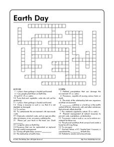 Earth Day Crossword Worksheet