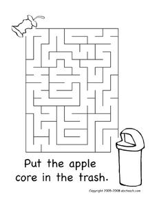 Earth Day Maze Worksheet