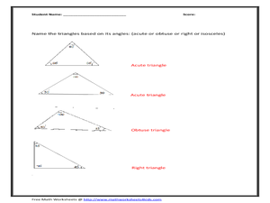Free Math Worksheet: Classify Triangles Based on Angles