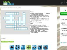 Earth Science Crossword Puzzle Interactive