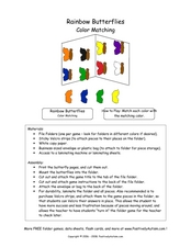 Matching Colors of Butterflies Lesson Plan