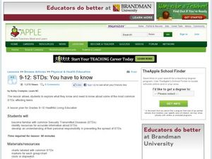 STDs: You Have to Know Lesson Plan