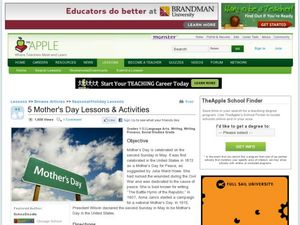 5 Mother's Day Lessons and Activities Lesson Plan