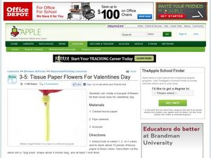 Tissue Paper Flowers For Valentines Day Lesson Plan