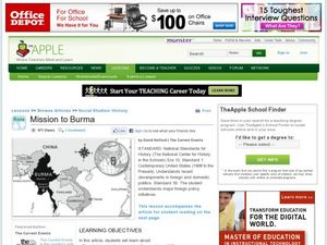 Mission to Burma Lesson Plan