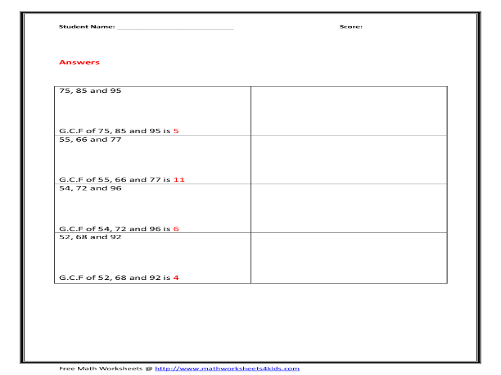 Workbooks » Math Factor Tree Worksheets - Free Printable Worksheets ...