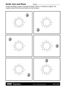 Earth, Sun, and Moon Worksheet