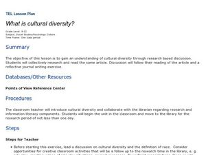 What is cultural diversity? Lesson Plan