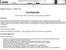 Earthquake Lesson Plan
