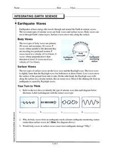 earthquake waves worksheet for 6th 10th grade lesson planet. Black Bedroom Furniture Sets. Home Design Ideas