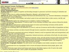 Earthquake! Lesson Plan