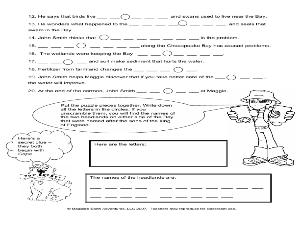Workbooks soil worksheets for 3rd grade : Catch Up' With John Smith Worksheet for 3rd - 7th Grade | Lesson ...