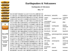 Earthquakes and Volcanoes Worksheet