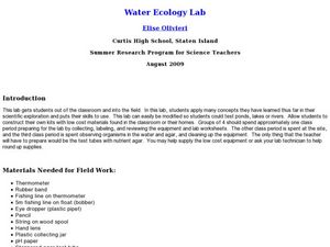 Water Ecology Lab Lesson Plan