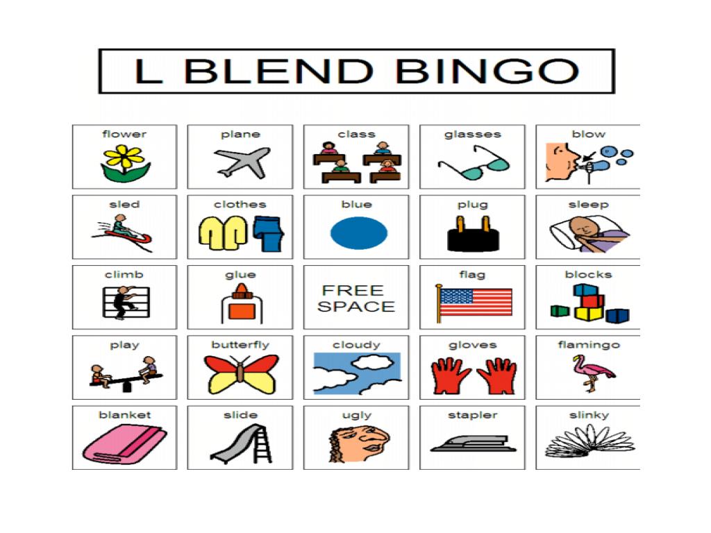 Free Worksheet L Blends Worksheets speech practice l blend bingo 2nd 3rd grade worksheet lesson planet