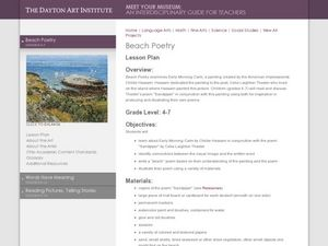 Beach Poetry Lesson Plan