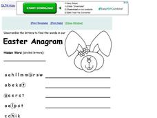 Easter Anagram Worksheet
