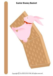 Easter Bunny Basket Worksheet