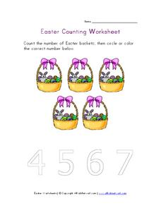 Easter Counting Worksheet Worksheet
