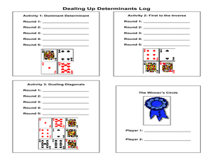 Dealing Up Determinants Lesson Plan