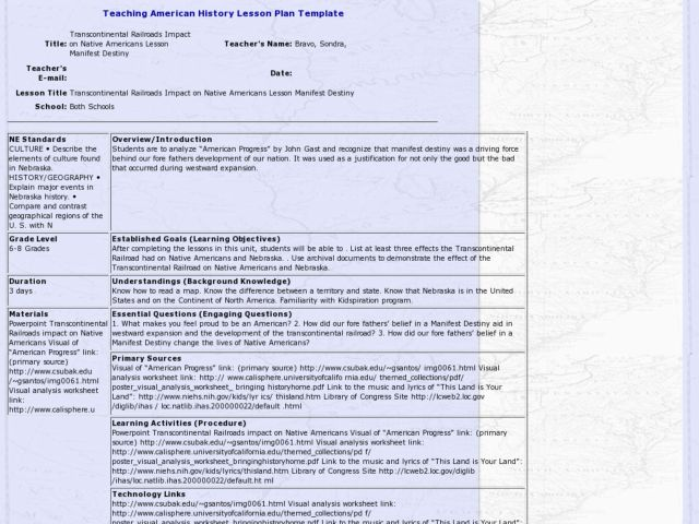 Expansion And Native Americans Lesson Plans Worksheets