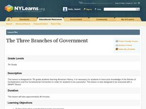The Three Branches of Government Lesson Plan
