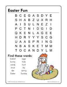 Easter Fun Worksheet