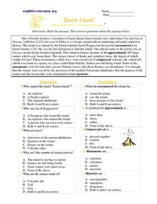 Easter Island Worksheet