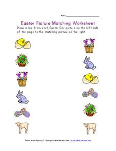 Easter Picture Matching Worksheet Worksheet