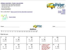 Easy Addition Practice Interactive