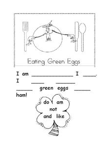 Eating Green Eggs Worksheet